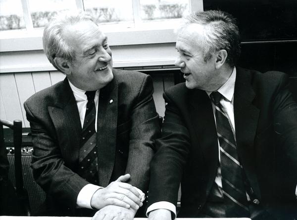 Manfred Stolpe und Johannes Rau