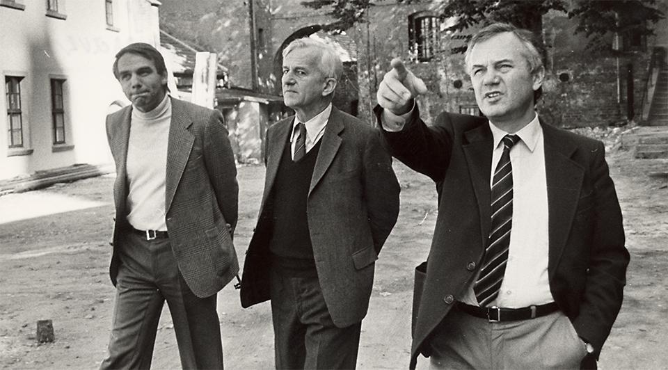 1983 im Domstift Brandenburg, mit Richard von Weizsäcker und Matthias Passauer