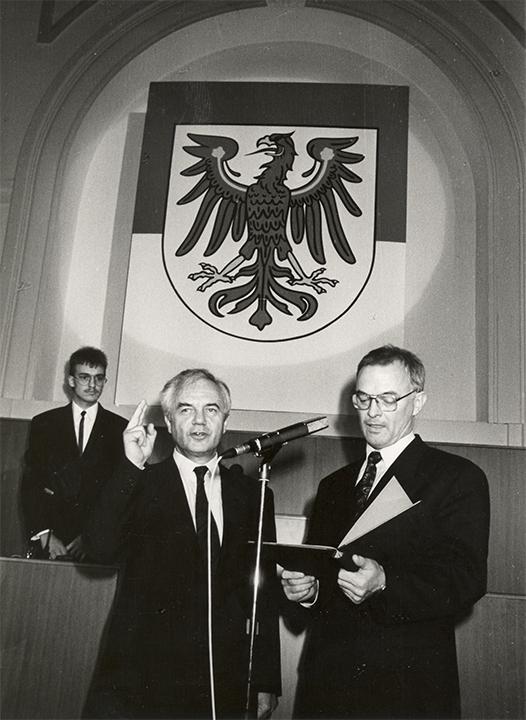 Vereidigung zum Ministerpräsident 1990